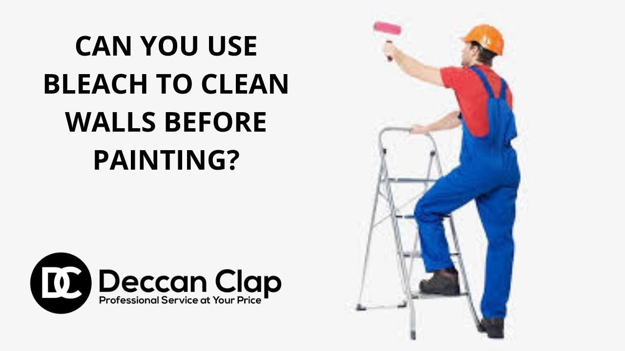 Can you use bleach to clean walls before painting