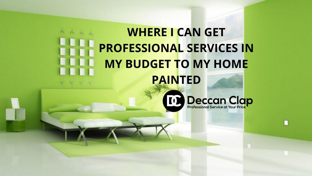 Where I can get professional services in My budget to my home painted