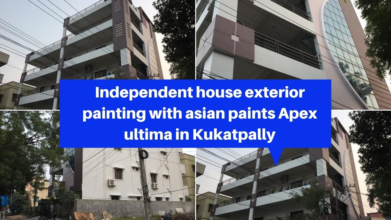 Independent house exterior painting services in kukatpally