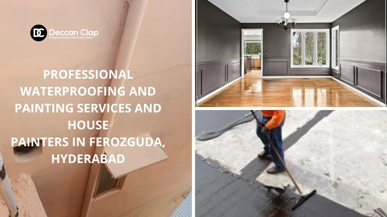 Professional waterproofing and painting services and house painters in Ferozguda Hyderabad
